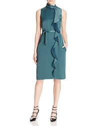 Reiss Lola Ruffled Satin Dress 100 Bloomingdale's Exclusive Bright Green