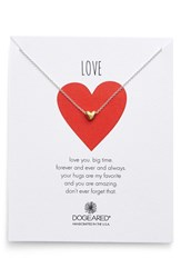 Women's Dogeared 'Chain Heart' Pendant Necklace Gold