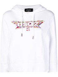 Dsquared2 Paisley Logo Hoodie White