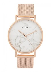 Cluse La Roche Rose Gold Tone And Marble Watch