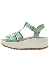Fly London Kail Platform Sandals Mynt Turquoise