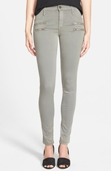 James Jeans Double Front Zip Leggings Stonehenge
