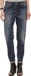 R 13 'Relaxed Skinny' Jeans Faded Blue
