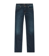 7 For All Mankind Straight Luxe Performance Jeans Male Blue