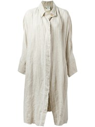 Forte Forte Back Pleat Coat Nude Neutrals