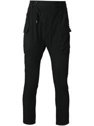 Alexandre Plokhov Slim Fit Cargo Trousers Black