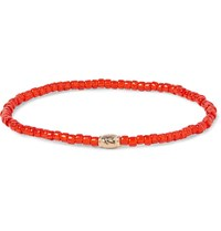 Luis Morais Glass Bead Gold Bracelet Red