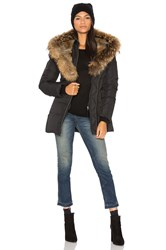 Mackage Akiva Asiatic Raccoon Fur And Rabbit Fur Coat Black