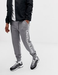 Calvin Klein Jeans Institutional Side Logo Sweatpants Grey Grey Heather