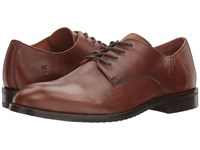 Frye Sam Derby Cognac Smooth Antique Pull Up Men's Lace Up Boots Brown