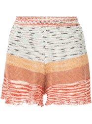 Missoni Striped Knitted Shorts Multicolour