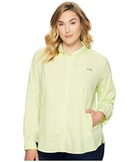 Columbia Plus Size Tamiami Ii L S Shirt Spring Yellow Women's Long Sleeve Button Up