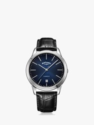 Rotary 'S Cambridge Date Leather Strap Watch Black Blue Gs05390 05