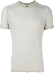 Rick Owens Twisted Edge T Shirt Nude And Neutrals