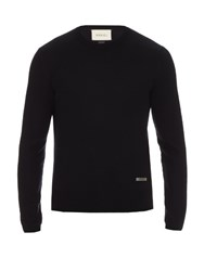 Gucci Crew Neck Wool Sweater Navy