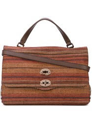 Zanellato Woven Tote Women Raffia Leather One Size Orange