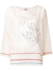 Forte Forte Embroidered Blouse Nude Neutrals