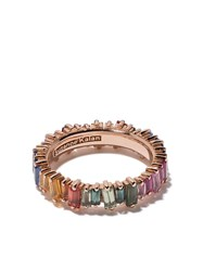 Suzanne Kalan 18Kt Rose Gold And Sapphire Rainbow Eternity Ring