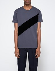 Han Kjobenhavn Block Tee Grey Black Stripe Grey Black