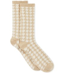 Charter Club Women's Menswear Cashmere Socks Only At Macy's Pale Oatmeal