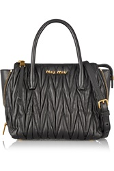 Miu Miu Trapeze Mini Matelasse Leather Shoulder Bag