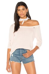 Nation Ltd. Nolita Off The Shoulder Sweater Pink