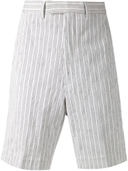 Umit Benan Fine Striped Shorts