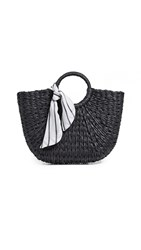 Hat Attack Olivia Round Handle Bag Black