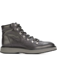 Hogan Lace Up Ankle Boots Grey