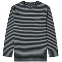 Engineered Garments Long Sleeve Stripe Tee Blue