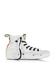 Converse Ct All Star Hi Camo Black Splash Canvas Sneaker White