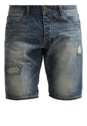 Petrol Industries Denim Shorts Destroyed Light Blue