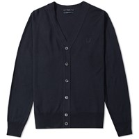 Fred Perry Fine Knit Cardigan Blue