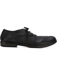 Marsell Marsell Distressed Derby Shoes Black