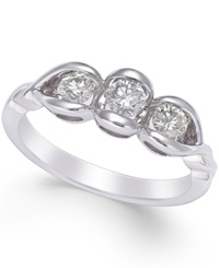 Sirena Diamond Engagement Ring In 14K White Gold 1 2 Ct. T.W.