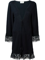 Antonia Zander Drawstring Cardi Coat Blue