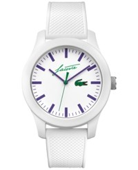 Lacoste Men's 12.12 White Silicone Strap Watch 43Mm 2010861