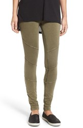 Women's Bp. Ribbed Moto Leggings Olive Burnt