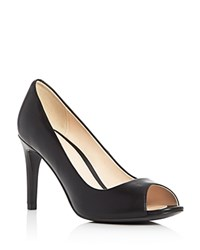 Cole Haan Hellen Grand Open Toe High Heel Pumps Black