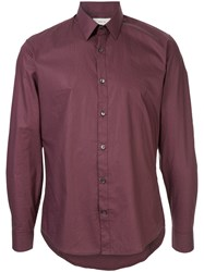 Cerruti 1881 Plain Fitted Shirt Red