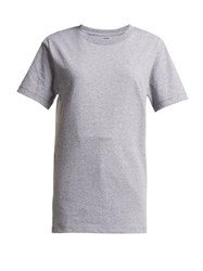 Hanes X Karla The Classic Cotton Jersey T Shirt Grey