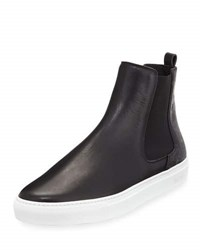 Mcm Visetos And Leather Chelsea Boot Black
