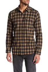 Volcom Fulton Long Sleeve Modern Fit Flannel Shirt Beige