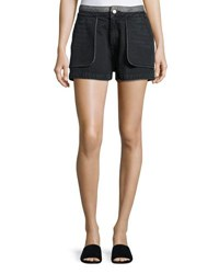 Opening Ceremony Cotton Denim Inside Out Shorts Black