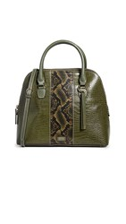 Frances Valentine Rachel Dome Satchel Natural Olive