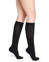 Falke Wool Blend Knee High Socks Black