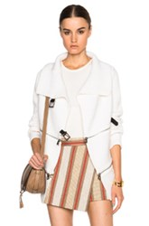 Barbara Bui Zip Sweater In White