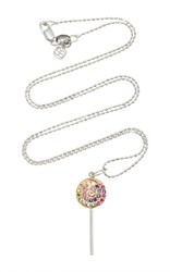 Sydney Evan Multi Colored Sapphire Lollipop Necklace