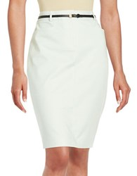 Calvin Klein Belted Pencil Skirt Mint