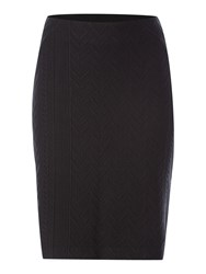 Noa Noa Knee Length Jacquard Pattern Skirt Black